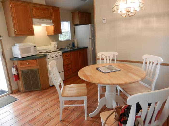 Jonathan Dickinson State Park cabin kitchen