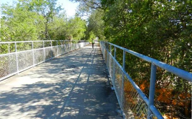 A bridge over the Pinellas Trail