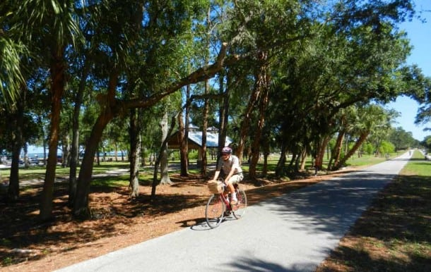 Shaded section of the Pinellas Trail