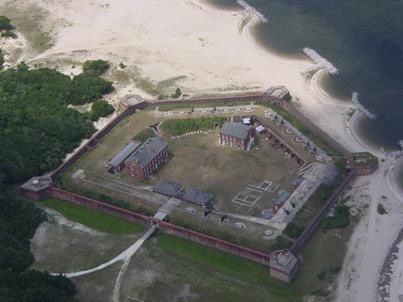 Fort Clinch State Park aerial view
