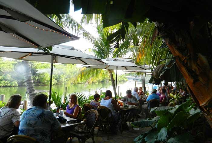 Guanabanas, an outdoor, waterfront restaurant in Jupiter, Florida