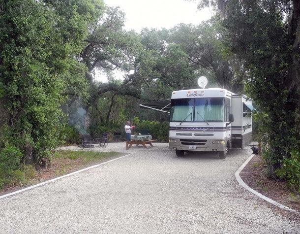 New campground at Myakka River State Park