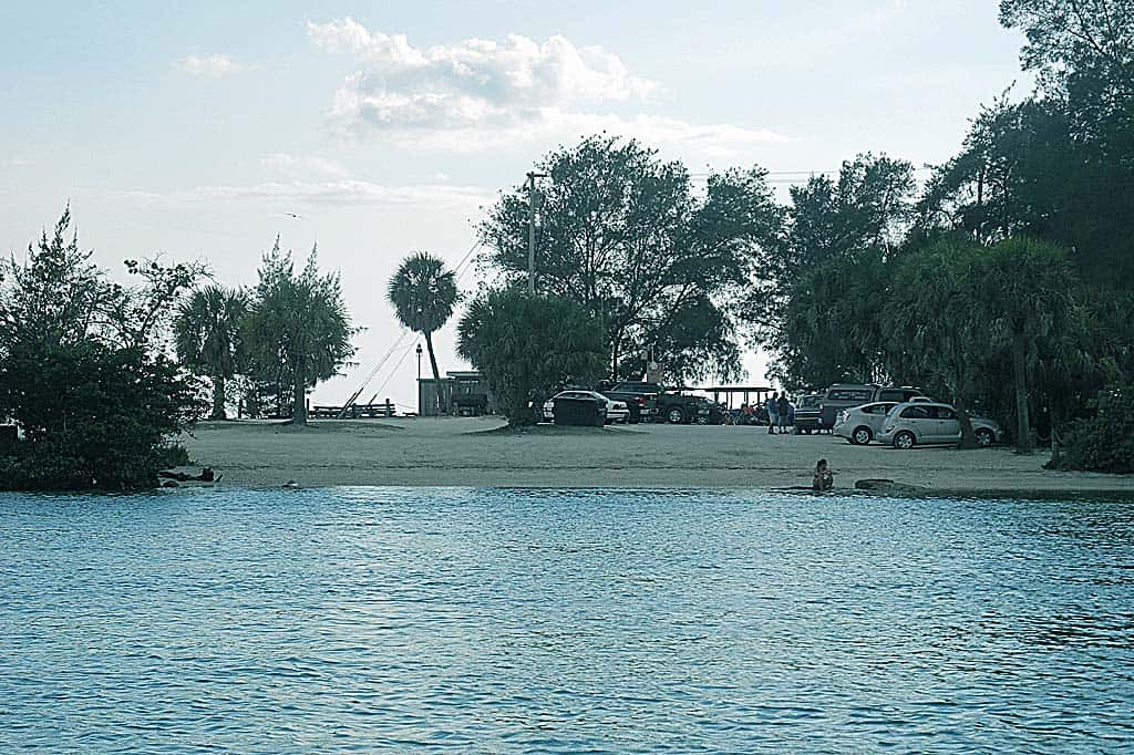 The beaches of Venice FL: Kayak launch at North Jetty Park
