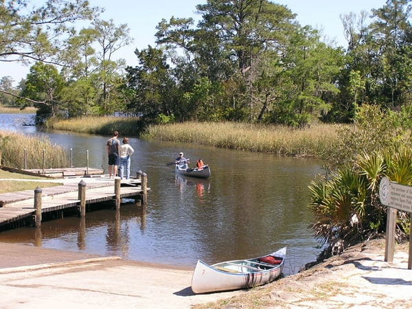 Boat launch at Florida's Ochlockonee River State Park