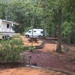 The campground at Florida's Three Rivers State Park.