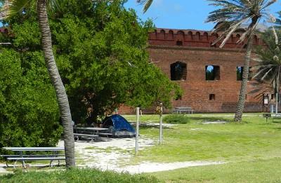 The Dry Tortugas National Park campsite
