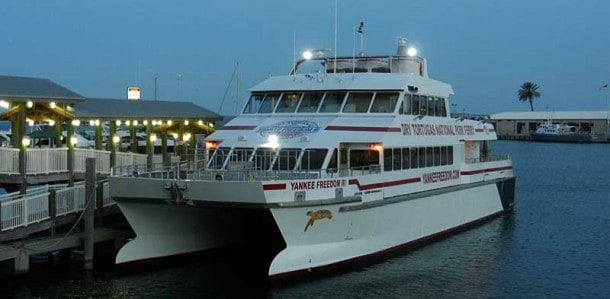 Dry Tortugas campers load onto the Yankee Clipper at the Key West seaport at 6:30 a.m. (Photo: Bonnie Gross)