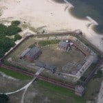 fort clinch aerial RV Camping along I-75, I-95 in North Florida State Parks