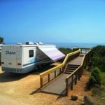 gamble rogers campsite boardwalk Coming to Florida in your RV? Take a break after crossing the state line