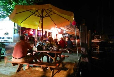 hogfish patio at night e1352656077697 Hogfish Grill: Where Key West locals go for fresh fish