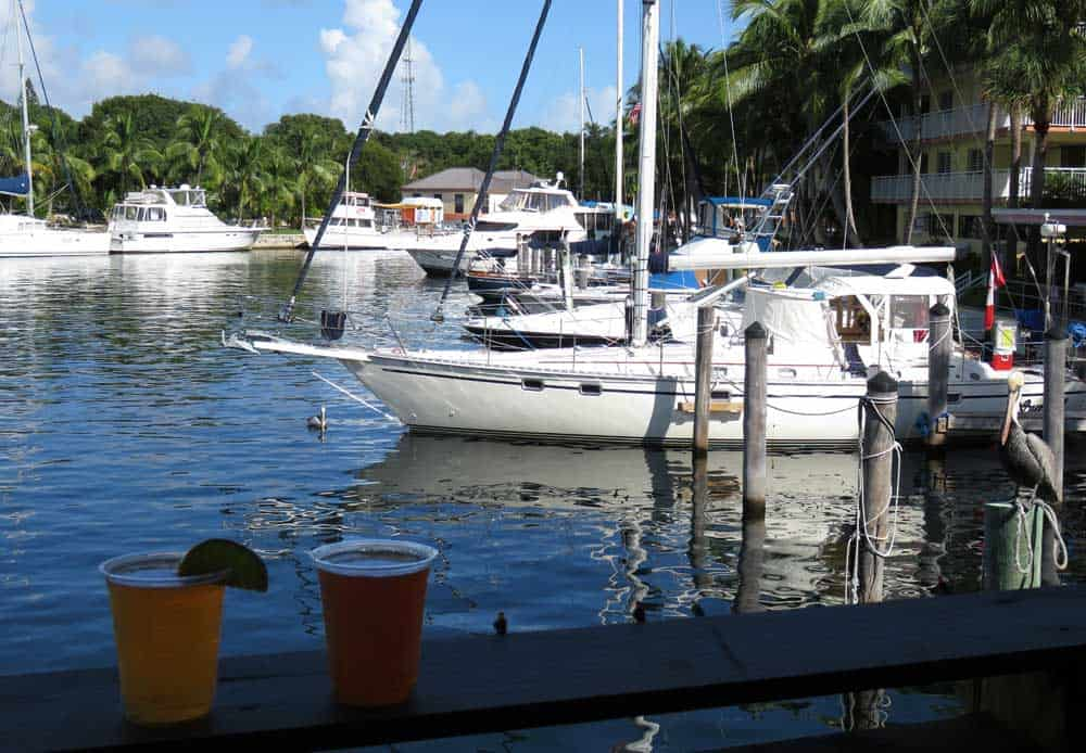 Things to do in Key Largo: Go to tiki bar. This is Skippers Dockside's canal view. (Photo: Bonnie Gross)