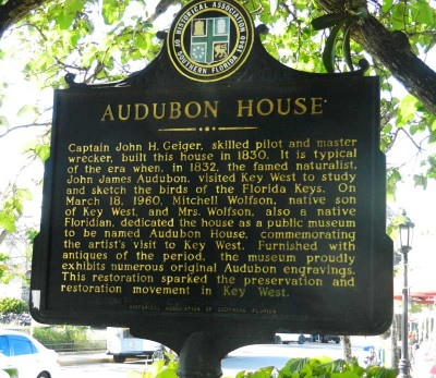 The Key West Audubon House was saved from demolition in 1958 and inspired the historic preservation movement in Key West.