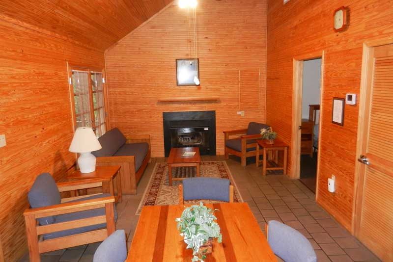 Interior of cabin at Silver Springs State Park