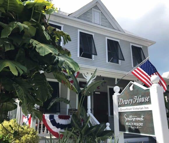 Near the Southernmost point, the historic Dewey House is an interesting stop on the historic walking tour, which is one of the best free things to do in Key West. (Photo: Bonnie Gross)