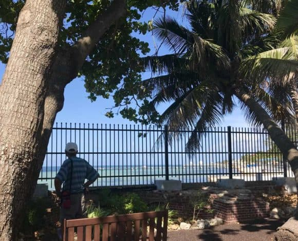 The West Martello garden has beautiful views onto Higgs Beach. It's one of my favorite free things to do in Key West. (Photo: Bonnie Gross)