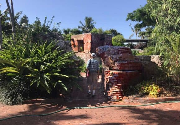 ree things to do in Key West: West Martello Tower is a Civil War-era fort that fell into disrepair and became home to the Key West Garden Club. This broken archway was the site of a large ficus tree that blew down in Hurricane Irma in 2017. (Photo: Bonnie Gross)