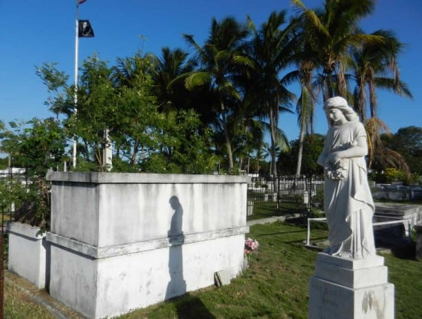 Hand-carved angels and Victorian statues are part of the history of the Key West Cemetery. It's a great stop for those seeking fun things that are free in Key West.