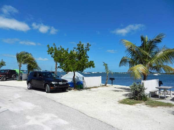 Key West camping. Tent sites at Boyd's Key West Campground