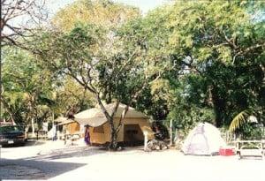 Tent sites at Key Largo Kampground and Marina