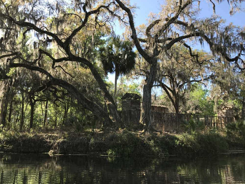 A highlight of the Fort King Waterway at Silver Spring is the re-creation of Fort King, a stockade style wooden fort built from the Seminole wars in the 1800s. (Photo: Bonnie Gross)
