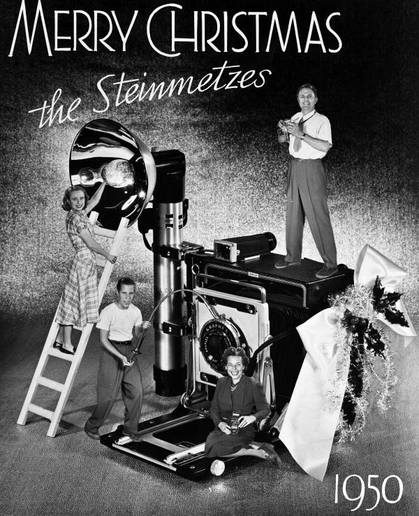 Steinmetz family Christmas card for 1950. (Florida Memory Project)