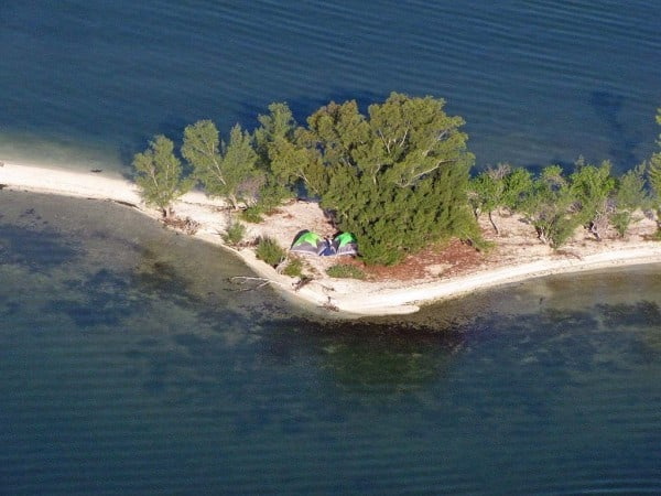 island camping in the Indian River Lagoon