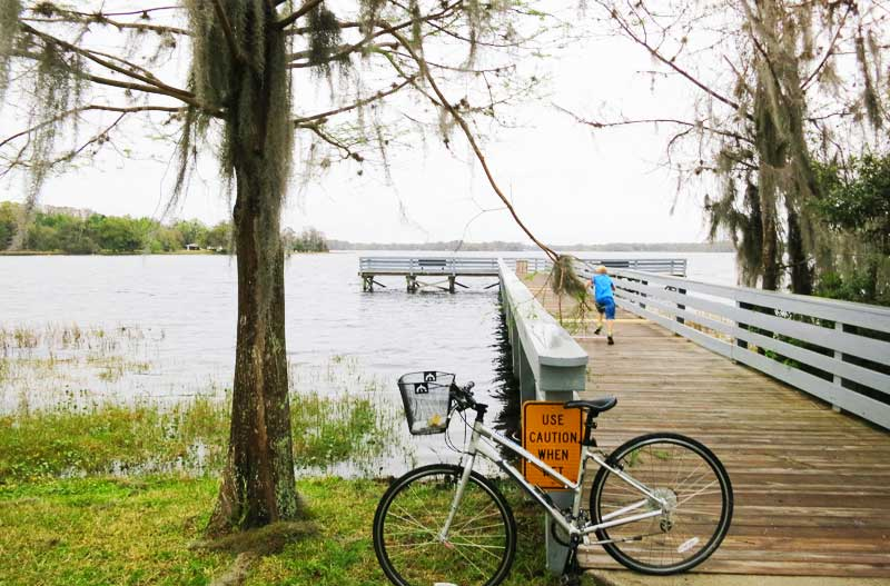 A park in Inverness along the Withlacoochee State Trail.