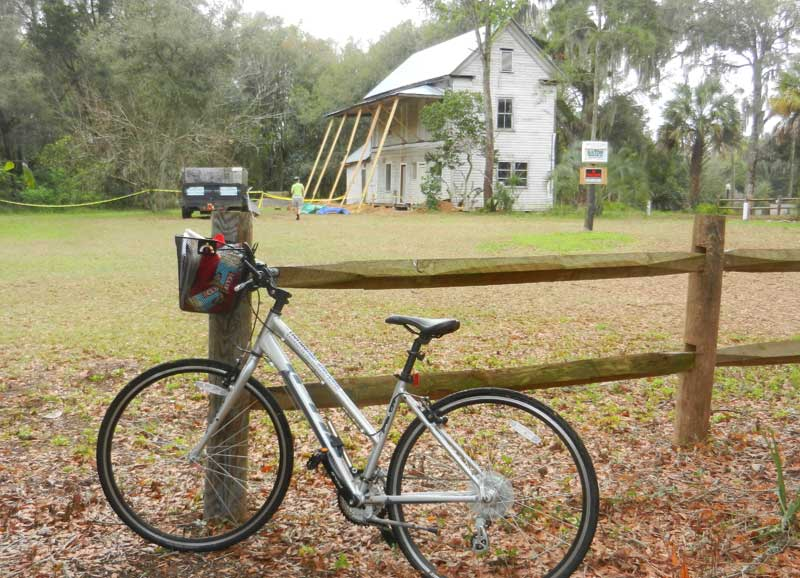 A stop along the Withlacoochee State Trail: The 1865 Duval House in Floral City.