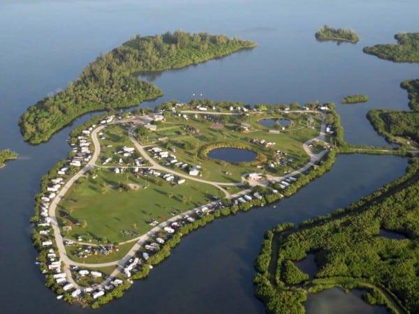 Best Florida camping: Long Point Park. (Photo by John Massung, IndianRiverbyAir.com)