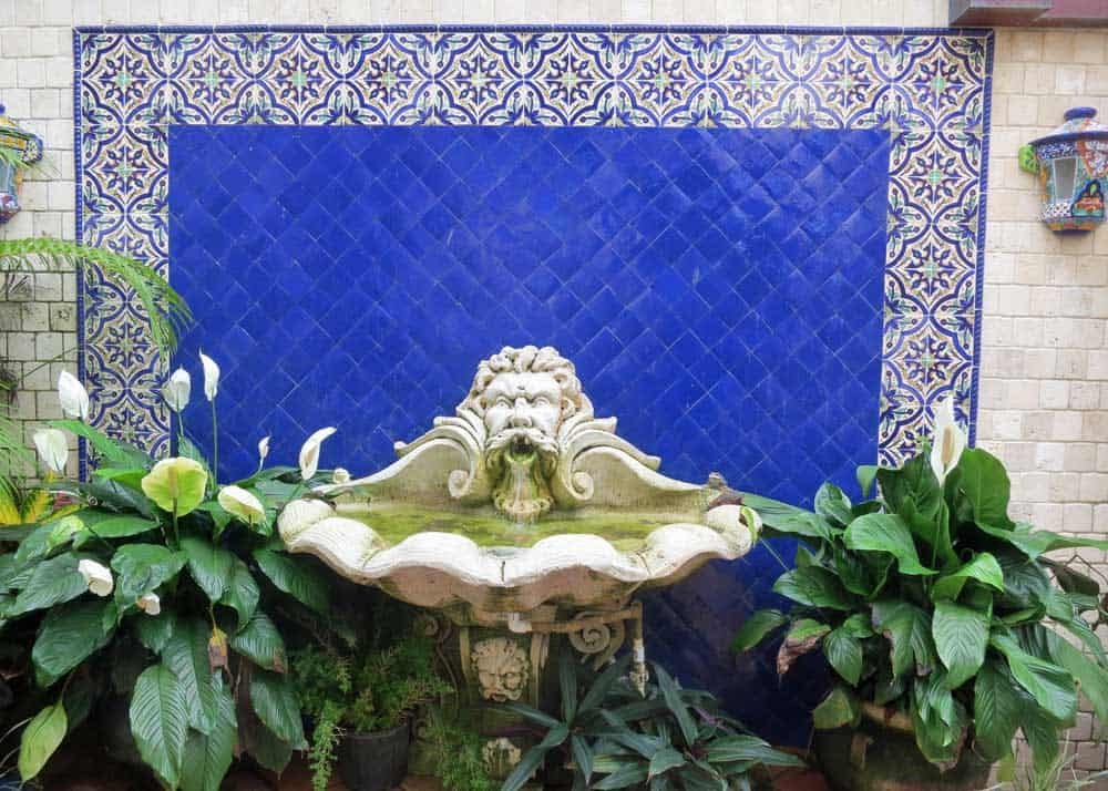 Fountain in a courtyard off Worth Avenue in Palm Beach island
