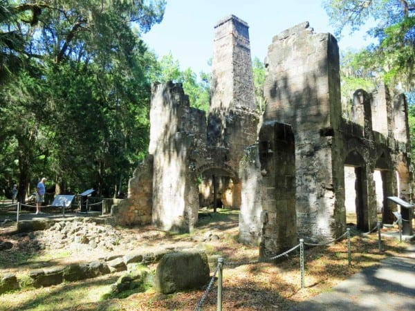 Sugar mill at Bulow Plantation Ruins Historic State Park in Flagler County.