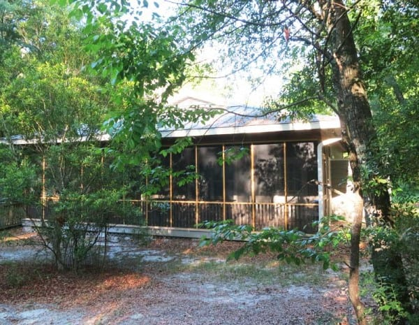 The cabins at Stephen Foster State Park