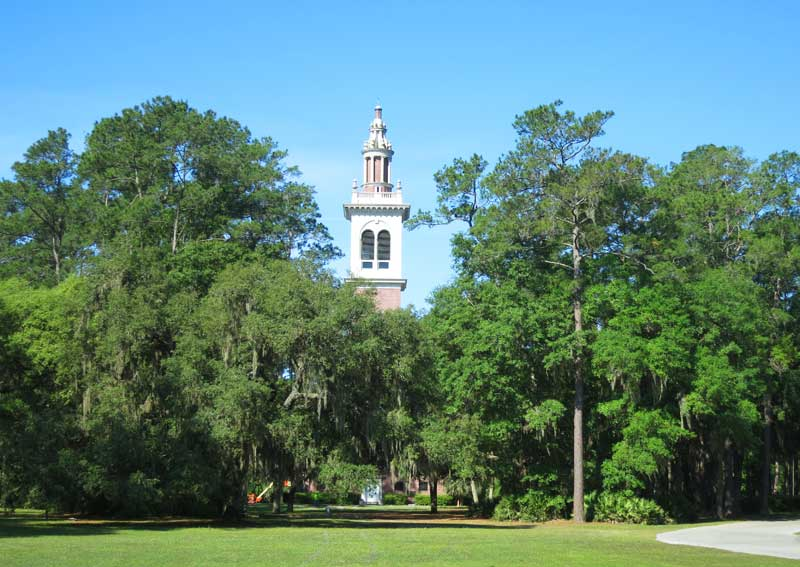 A carillon gives bell concerts four times a day at Stephen Foster Folk Culture Center State Park.