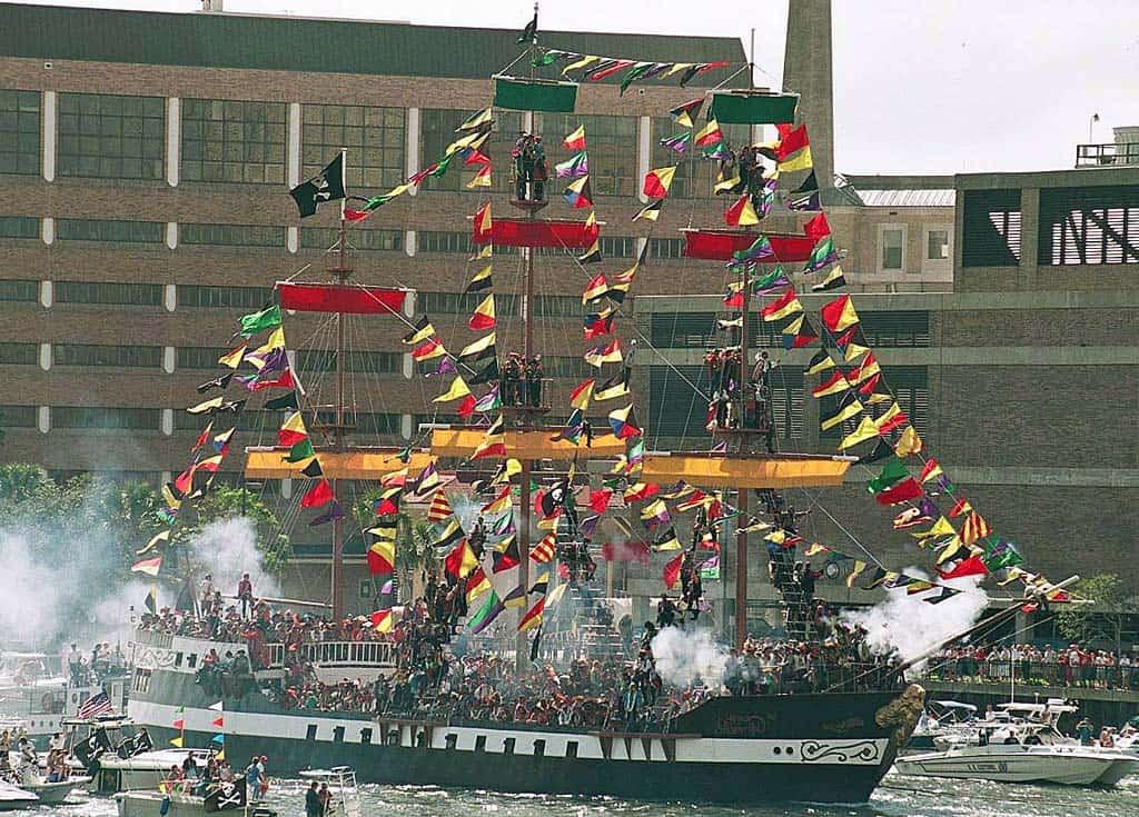 """The """"Jose Gasparilla"""" pirate ship"""
