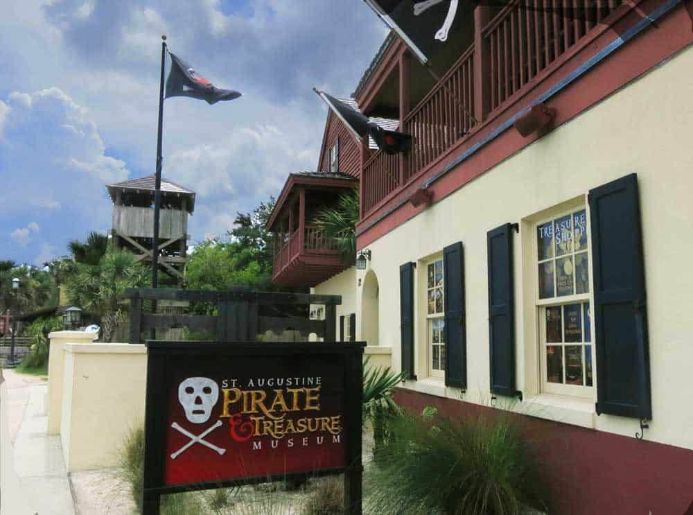 St. Augustine Pirate Museum: The jolly roger flies overhead. Photo by Bonnie Gross, Florida Rambler.