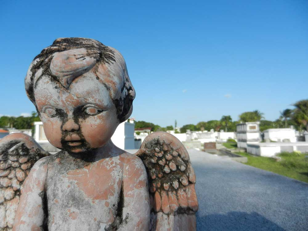 Angel statue at Key West Cemetery