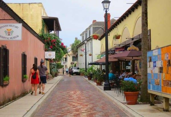 St. Augustine history: Aviles Street paved with bricks.