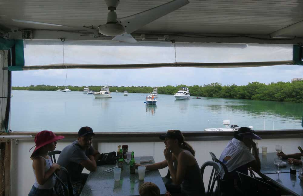 Lunch with a view at Boaters Grill at Bill Baggs Cape Florida State Park on Key Biscayne