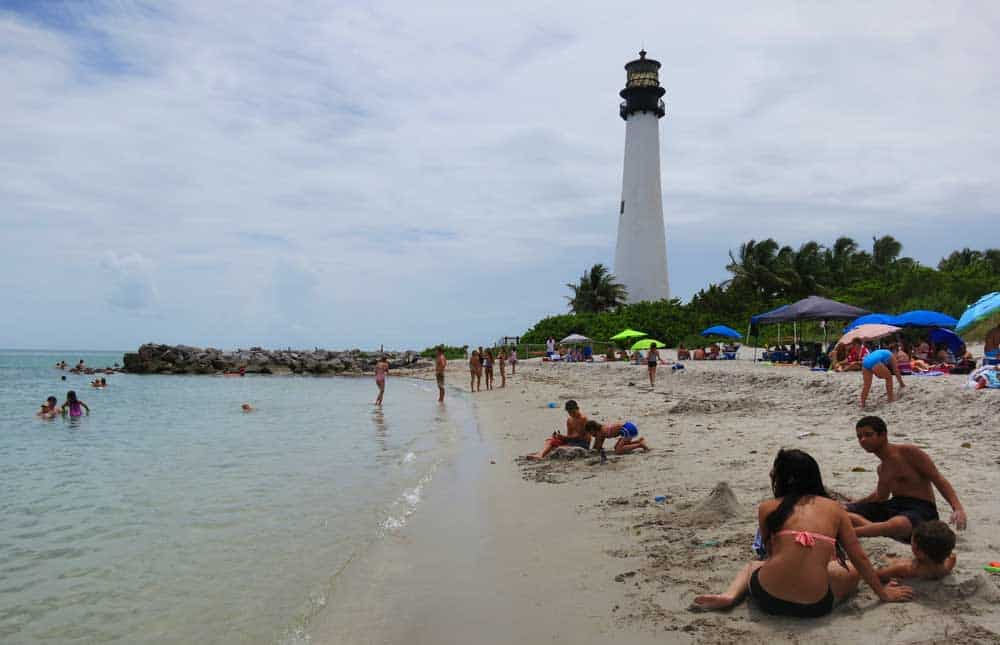 The beach at Bill Baggs Cape Florida State Park on Key Biscayne: It offers one of Florida's best beaches ,a lighthouse and a restaurant where you can enjoy sangria and lunch. (Photo:Bonnie Gross)