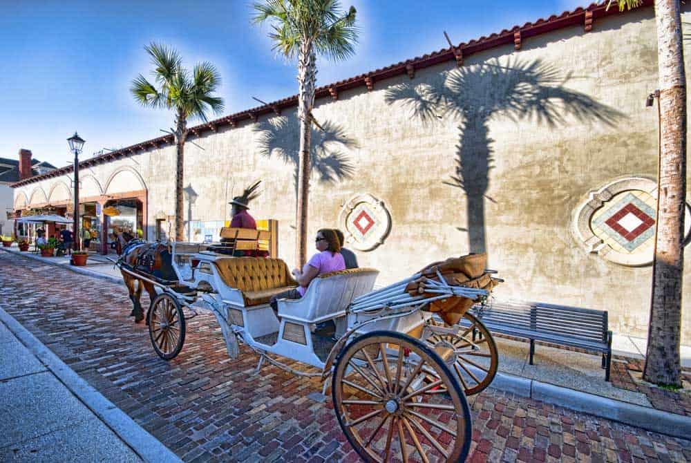 Things to do in St. Augustine: Horse-drawn carriages are popular in St. Augustine(Courtesy FloridaHistoricCoast.com)