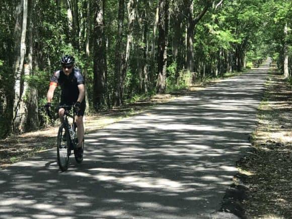 Jacksonville-Baldwin Rail Trail: A shady ride even on hot sunny days. (Photo: Bonnie Gross)