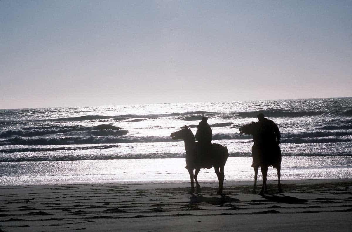Romantic things to do in Florida: Horseback riding on the beach.