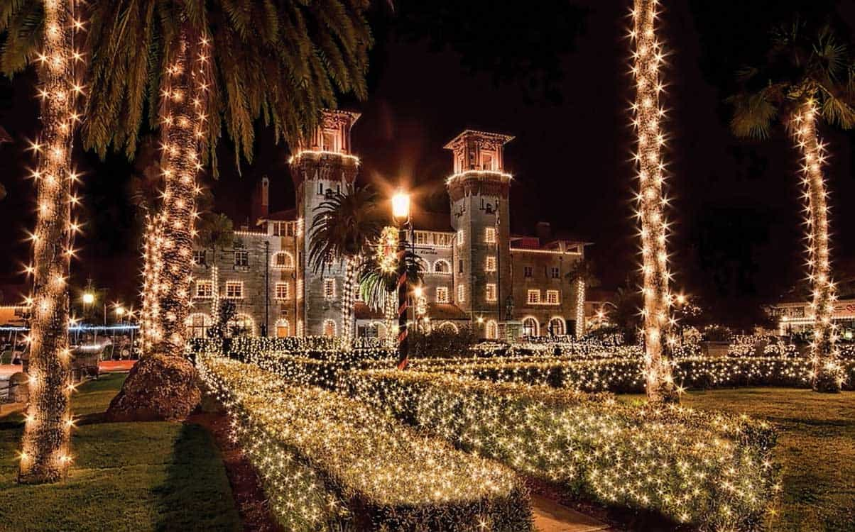 Holiday Lightner StAug Where to celebrate the holidays in Old Florida: Best holiday light displays
