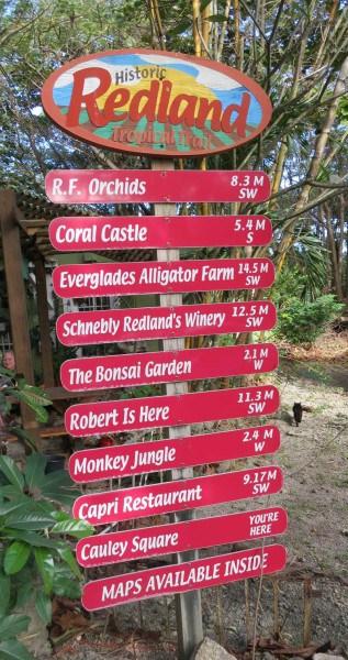 Sign for the Redland