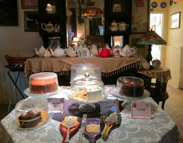 Desserts at the Tea Room at Cauley Square in the Redlands, Florida.