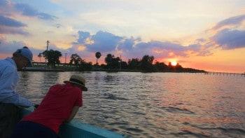 Sunset at the pier in Bokeelia, near Matlacha.