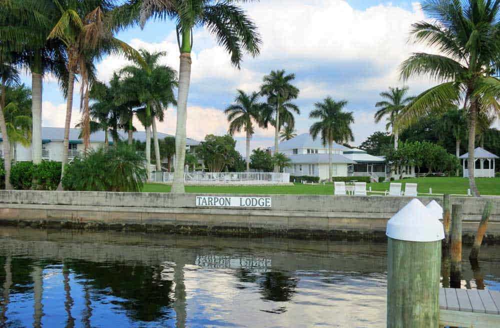 The Tarpon Lodge on Pine Island in the community of Pineland has a magnificent location on the water. It's about 20 minutes from Matlacha.