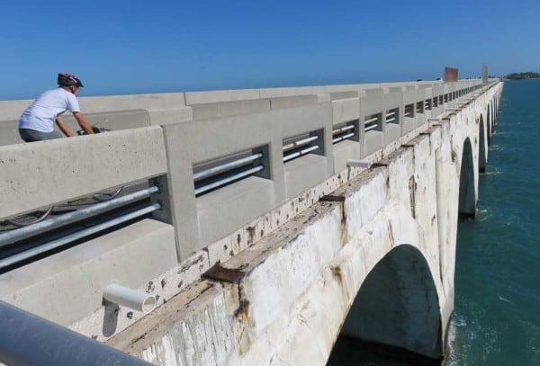 The Historic Long Key Bridge on the Florida Keys Overseas Heritage Trail.