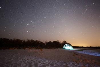 night camping ten thousand islands tiger key