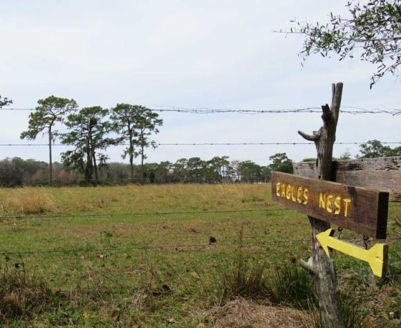 Eagle's nest sign at Crowley Museum & Nature Center
